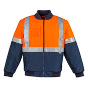 Mens HI Vis Quilted Flying Jacket