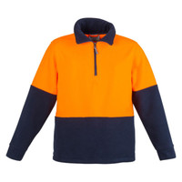 Unisex Hi Vis Half Zip Fleece Jumper