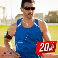 BIZ COLLECTION Mens Splice Singlet