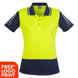 Syzmik Womens Hi Viz Zone Polo Thumbnail