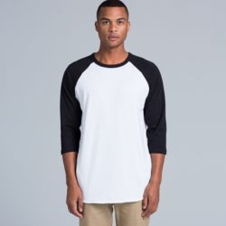 AS COLOUR Mens Raglan Tee Thumbnail