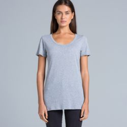 AS COLOUR Womens Shallow Scoop Tee Thumbnail