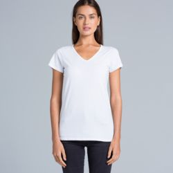 AS COLOUR Womens Bevel V-Neck Tee Thumbnail