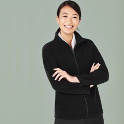 Womens Plain Micro Fleece Jacket Thumbnail