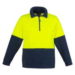 Unisex Hi Vis Half Zip Fleece Jumper Thumbnail