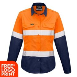 Womens Rugged Cooling Taped Hi Vis Spliced Shirt Thumbnail