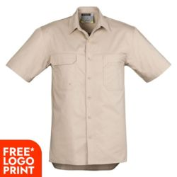 SYZMIK Mens Light Weight Tradie Short Sleeve Shirt Thumbnail