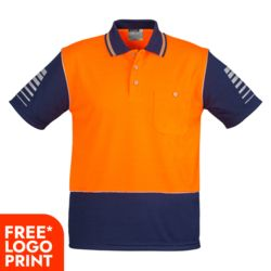 SYZMIK Mens Hi Vis Zone Polo Thumbnail