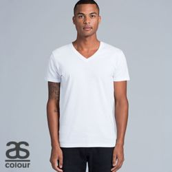 50+ AS COLOUR Mens Tarmac V-Neck Tee Thumbnail