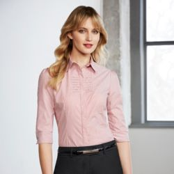 BIZ COLLECTION  Womens Berlin 3/4 Sleeve Shirt Thumbnail