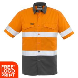 Mens Rugged Cooling Taped Hi Vis Spliced S/S Shirt Thumbnail