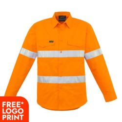 SYZMIK Mens Hi Vis Hoop Taped Shirt Thumbnail