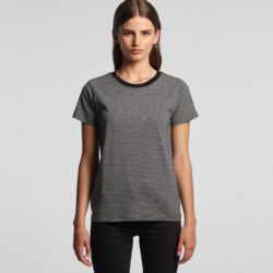 AS COLOUR Womens Line Stripe Tee Thumbnail