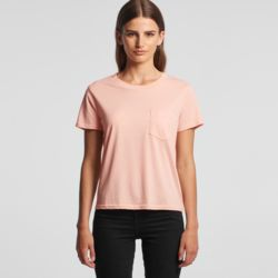 AS COLOUR Womens Square Pocket Tee Thumbnail