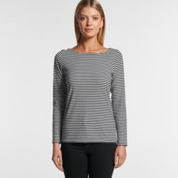 AS COLOUR Womens Bowery Stripe L/S Tee Thumbnail