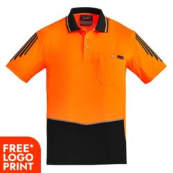 Mens Hi Vis Flux S/S Polo Thumbnail