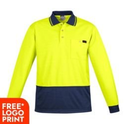 SYZMIK Mens Comfort Back L/S Polo  Thumbnail