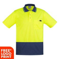 SYZMIK Mens Comfort Back S/S Polo  Thumbnail