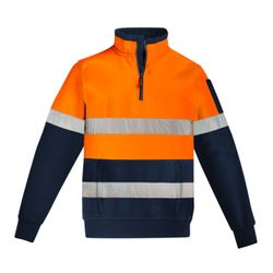 Mens Hi Vis 1/4 Zip Pullover - Hoop Taped Thumbnail