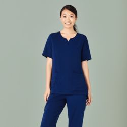 Womens Round Neck Scrub Top Thumbnail