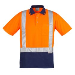 Mens Hi Vis Spliced Polo - Short Sleeve Shoulder Taped Thumbnail