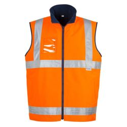 Mens Hi Vis Lightweight Fleece Lined Vest Thumbnail