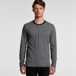 AS COLOUR Mens Line Stripe L/S Tee Thumbnail